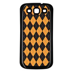 Plaid Triangle Line Wave Chevron Yellow Red Blue Orange Black Beauty Argyle Samsung Galaxy S3 Back Case (black) by Alisyart