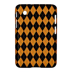 Plaid Triangle Line Wave Chevron Yellow Red Blue Orange Black Beauty Argyle Samsung Galaxy Tab 2 (7 ) P3100 Hardshell Case  by Alisyart