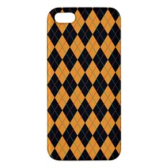 Plaid Triangle Line Wave Chevron Yellow Red Blue Orange Black Beauty Argyle Iphone 5s/ Se Premium Hardshell Case by Alisyart
