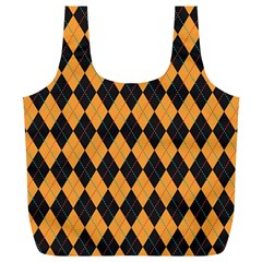 Plaid Triangle Line Wave Chevron Yellow Red Blue Orange Black Beauty Argyle Full Print Recycle Bags (l)  by Alisyart