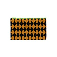 Plaid Triangle Line Wave Chevron Yellow Red Blue Orange Black Beauty Argyle Cosmetic Bag (xs) by Alisyart
