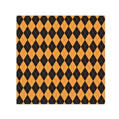 Plaid Triangle Line Wave Chevron Yellow Red Blue Orange Black Beauty Argyle Small Satin Scarf (square) by Alisyart
