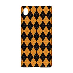 Plaid Triangle Line Wave Chevron Yellow Red Blue Orange Black Beauty Argyle Sony Xperia Z3+ by Alisyart