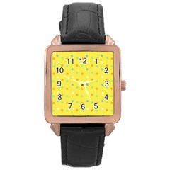 Star Rainbow Coror Purple Gold White Blue Yellow Rose Gold Leather Watch  by Alisyart