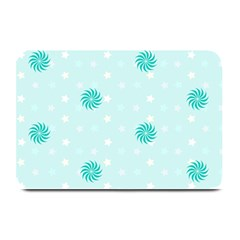 Star White Fan Blue Plate Mats by Alisyart