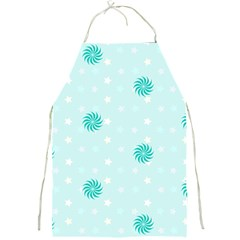 Star White Fan Blue Full Print Aprons by Alisyart