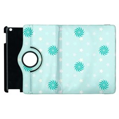 Star White Fan Blue Apple Ipad 3/4 Flip 360 Case by Alisyart
