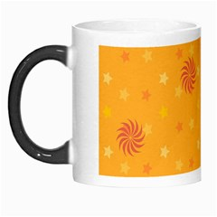 Star White Fan Orange Gold Morph Mugs by Alisyart
