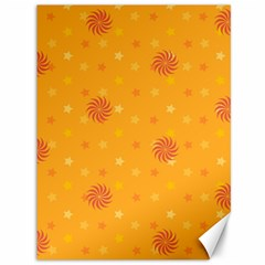 Star White Fan Orange Gold Canvas 36  X 48   by Alisyart