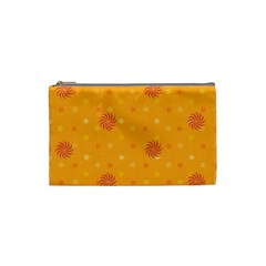 Star White Fan Orange Gold Cosmetic Bag (small)  by Alisyart