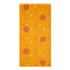Star White Fan Orange Gold Shower Curtain 36  X 72  (stall)  by Alisyart