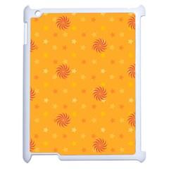 Star White Fan Orange Gold Apple Ipad 2 Case (white) by Alisyart