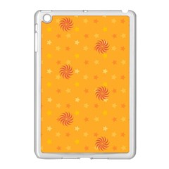 Star White Fan Orange Gold Apple Ipad Mini Case (white) by Alisyart
