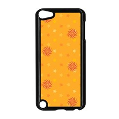Star White Fan Orange Gold Apple Ipod Touch 5 Case (black) by Alisyart