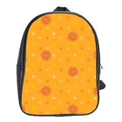 Star White Fan Orange Gold School Bags (xl)  by Alisyart