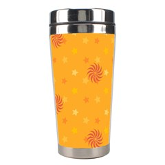Star White Fan Orange Gold Stainless Steel Travel Tumblers by Alisyart