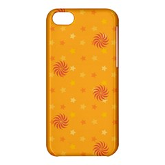 Star White Fan Orange Gold Apple Iphone 5c Hardshell Case