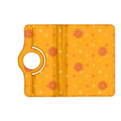 Star White Fan Orange Gold Kindle Fire Hd (2013) Flip 360 Case by Alisyart