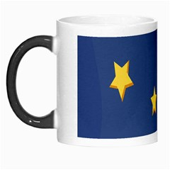 Starry Star Night Moon Blue Sky Light Yellow Morph Mugs by Alisyart