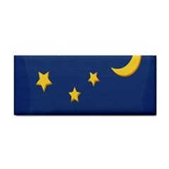 Starry Star Night Moon Blue Sky Light Yellow Cosmetic Storage Cases by Alisyart