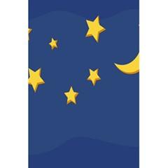 Starry Star Night Moon Blue Sky Light Yellow 5 5  X 8 5  Notebooks by Alisyart