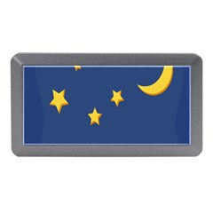 Starry Star Night Moon Blue Sky Light Yellow Memory Card Reader (mini) by Alisyart