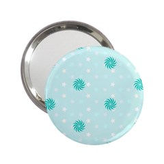 Star White Fan Blue 2 25  Handbag Mirrors by Alisyart