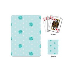 Star White Fan Blue Playing Cards (mini)  by Alisyart