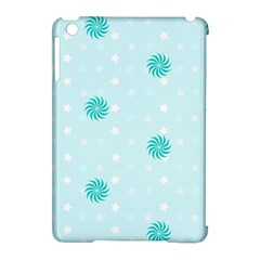 Star White Fan Blue Apple iPad Mini Hardshell Case (Compatible with Smart Cover) by Alisyart