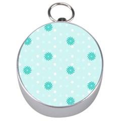 Star White Fan Blue Silver Compasses by Alisyart