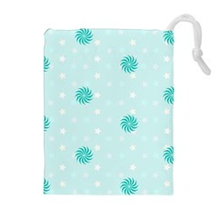 Star White Fan Blue Drawstring Pouches (extra Large) by Alisyart