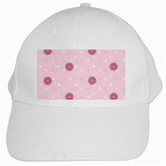 Star White Fan Pink White Cap by Alisyart