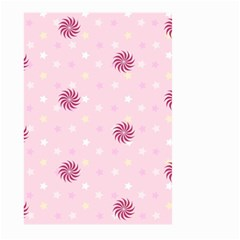 Star White Fan Pink Large Garden Flag (two Sides) by Alisyart