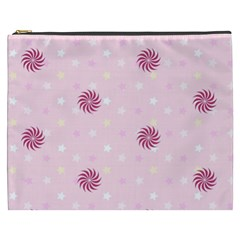 Star White Fan Pink Cosmetic Bag (xxxl)  by Alisyart