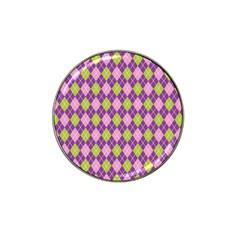 Plaid Triangle Line Wave Chevron Green Purple Grey Beauty Argyle Hat Clip Ball Marker (4 Pack) by Alisyart