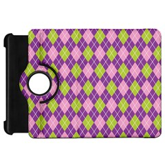 Plaid Triangle Line Wave Chevron Green Purple Grey Beauty Argyle Kindle Fire Hd 7  by Alisyart
