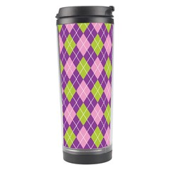 Plaid Triangle Line Wave Chevron Green Purple Grey Beauty Argyle Travel Tumbler by Alisyart