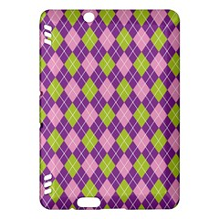 Plaid Triangle Line Wave Chevron Green Purple Grey Beauty Argyle Kindle Fire Hdx Hardshell Case by Alisyart