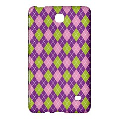 Plaid Triangle Line Wave Chevron Green Purple Grey Beauty Argyle Samsung Galaxy Tab 4 (8 ) Hardshell Case  by Alisyart