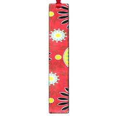 Sunflower Floral Red Yellow Black Circle Large Book Marks by Alisyart