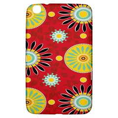 Sunflower Floral Red Yellow Black Circle Samsung Galaxy Tab 3 (8 ) T3100 Hardshell Case  by Alisyart
