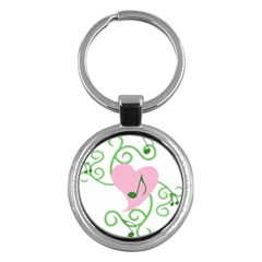 Sweetie Belle s Love Heart Music Note Leaf Green Pink Key Chains (round)  by Alisyart
