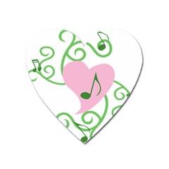 Sweetie Belle s Love Heart Music Note Leaf Green Pink Heart Magnet by Alisyart