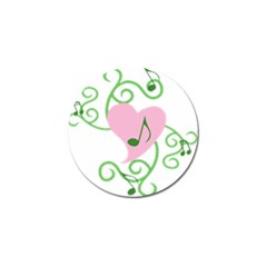 Sweetie Belle s Love Heart Music Note Leaf Green Pink Golf Ball Marker by Alisyart