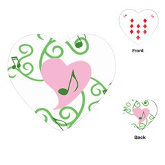 Sweetie Belle s Love Heart Music Note Leaf Green Pink Playing Cards (heart)  by Alisyart