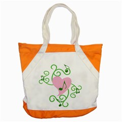 Sweetie Belle s Love Heart Music Note Leaf Green Pink Accent Tote Bag by Alisyart