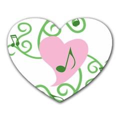 Sweetie Belle s Love Heart Music Note Leaf Green Pink Heart Mousepads by Alisyart