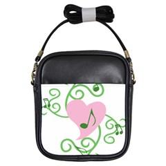 Sweetie Belle s Love Heart Music Note Leaf Green Pink Girls Sling Bags by Alisyart