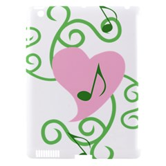 Sweetie Belle s Love Heart Music Note Leaf Green Pink Apple Ipad 3/4 Hardshell Case (compatible With Smart Cover) by Alisyart