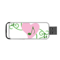 Sweetie Belle s Love Heart Music Note Leaf Green Pink Portable Usb Flash (one Side) by Alisyart
